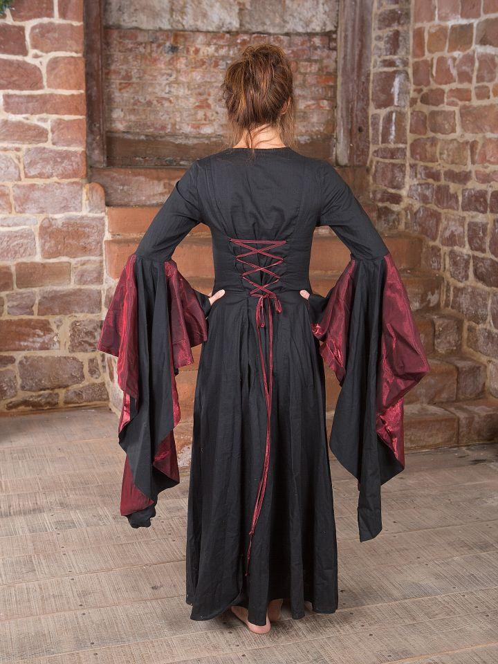 Mittelalterkleid Elisabeth in schwarz-rot 3