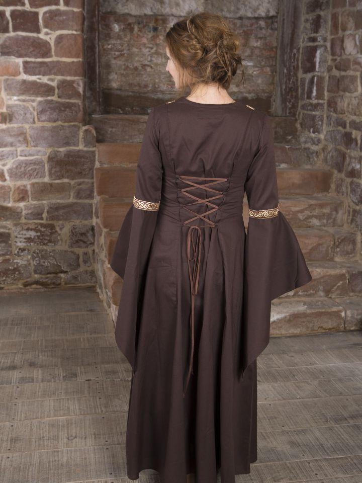 Mittelalterkleid Rahel braun 3