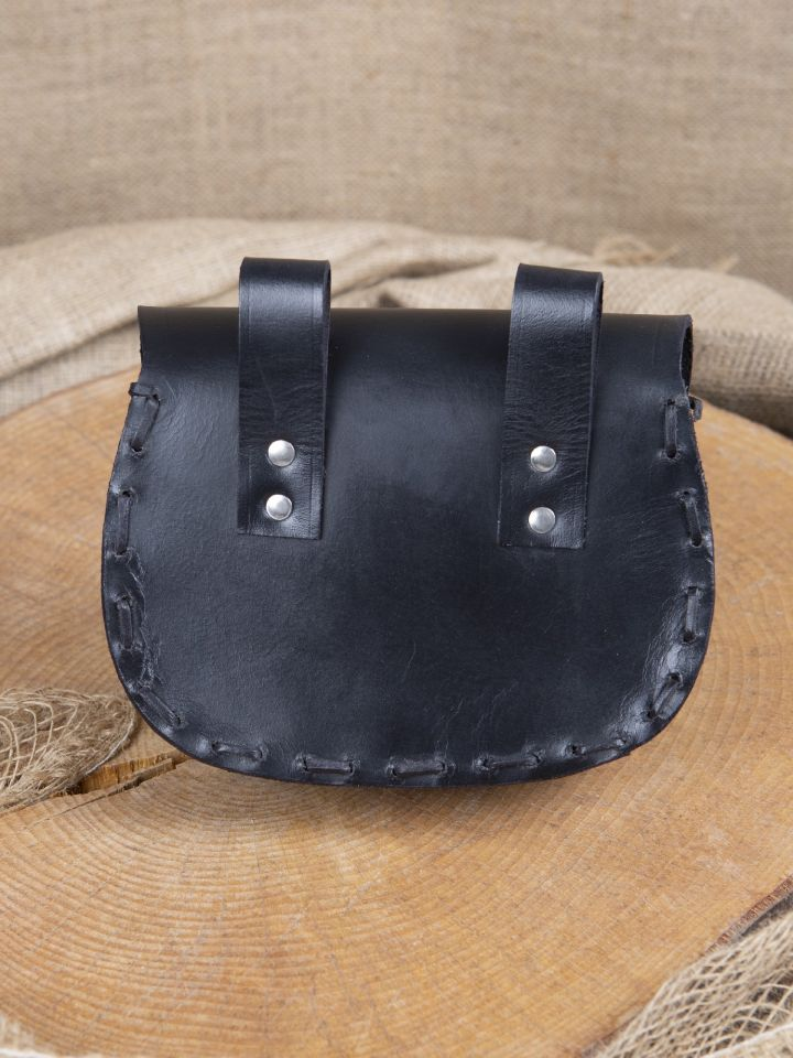 Ledergürteltasche mit keltischer Prägung schwarz 3