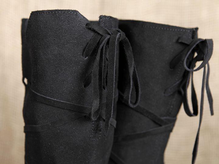 Hohe Stiefel aus Wildleder schwarz 3