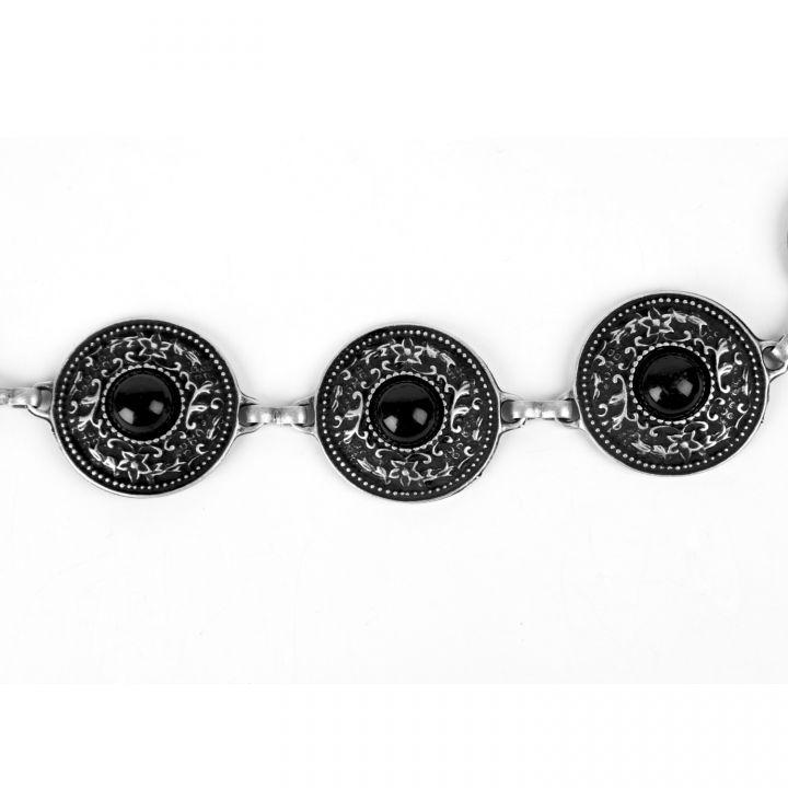 Metallgürtel - Kettengürtel mit Steinen 3