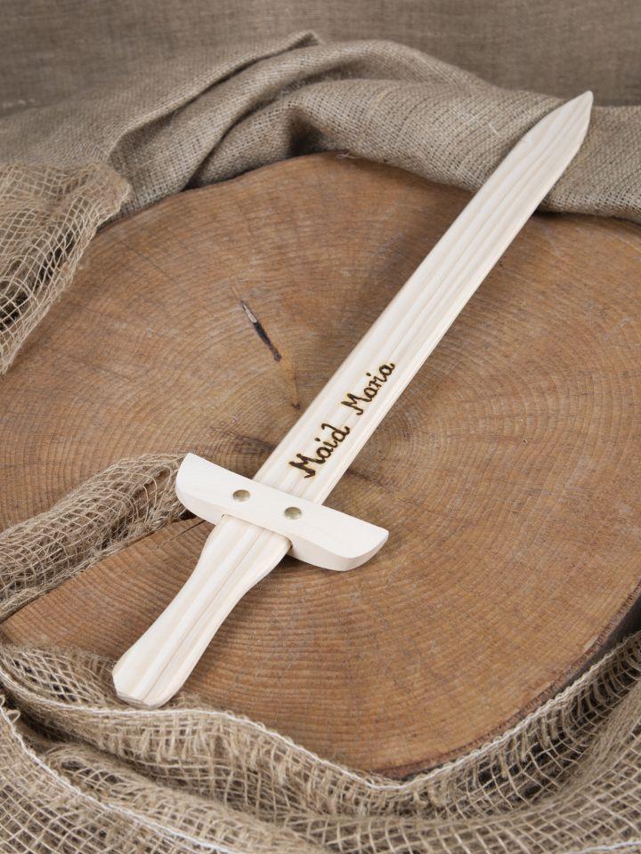 Holzschwert mit individueller Gravur 3