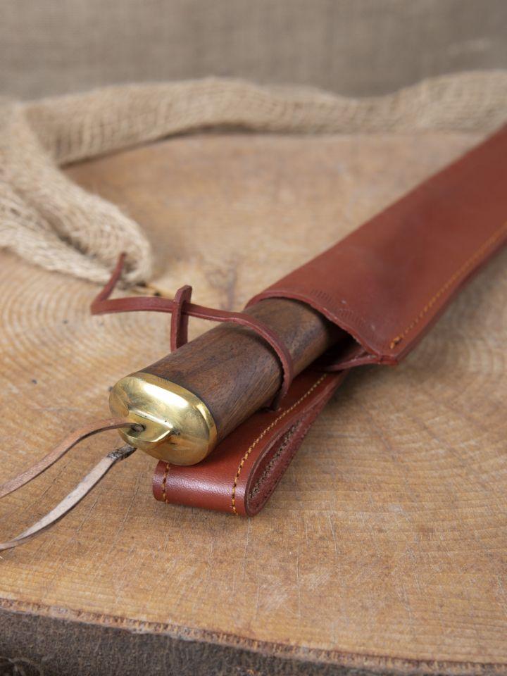Messer mit Holzgriff u. Lederscheide 3