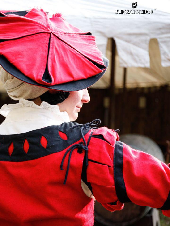 Flora Trossfrauen-Barett rot-schwarz 3