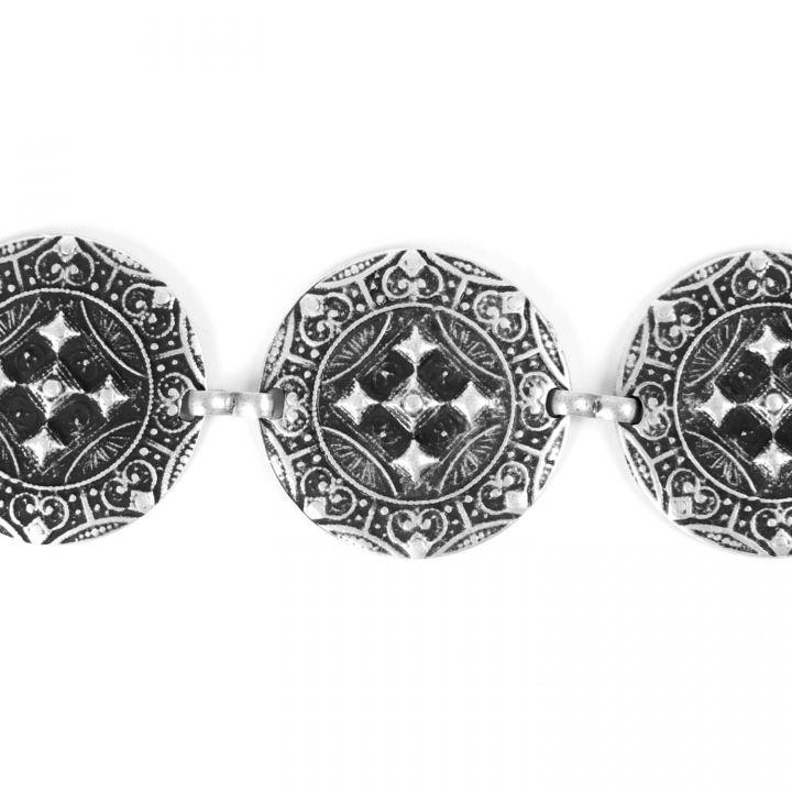 Metallgürtel - Kettengürtel altsilber 3