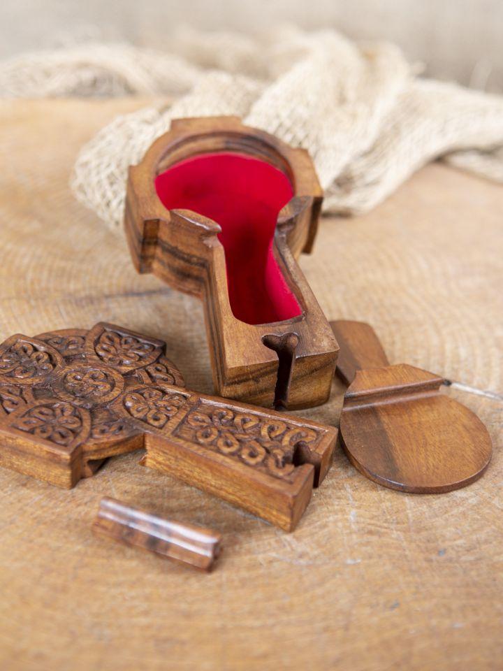 Holzdose Keltisches Kreuz 3