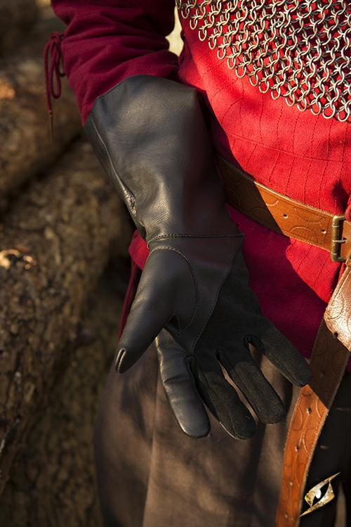 Falknerhandschuhe schwarz 3