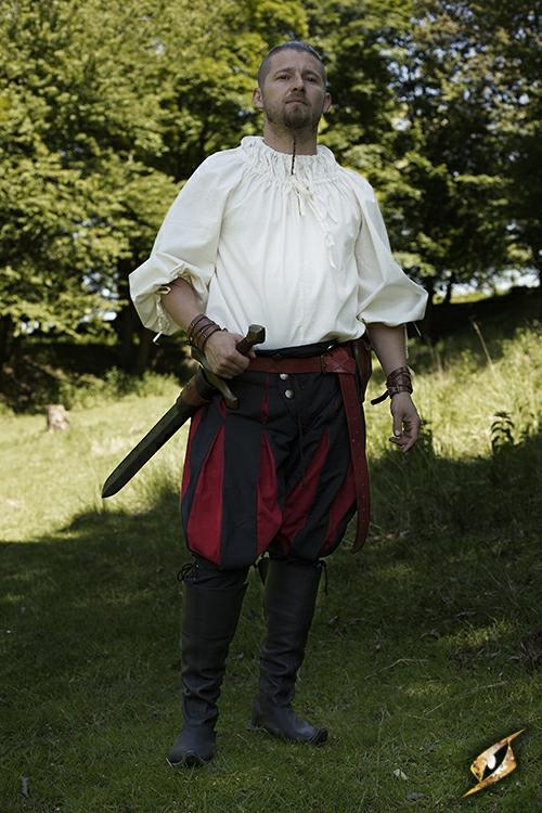 Hose Landsknecht schwarz-rot 3