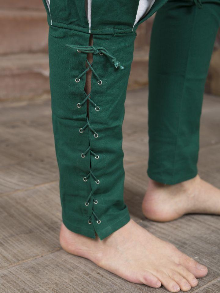 Hose Landsknecht grün-weiß 3