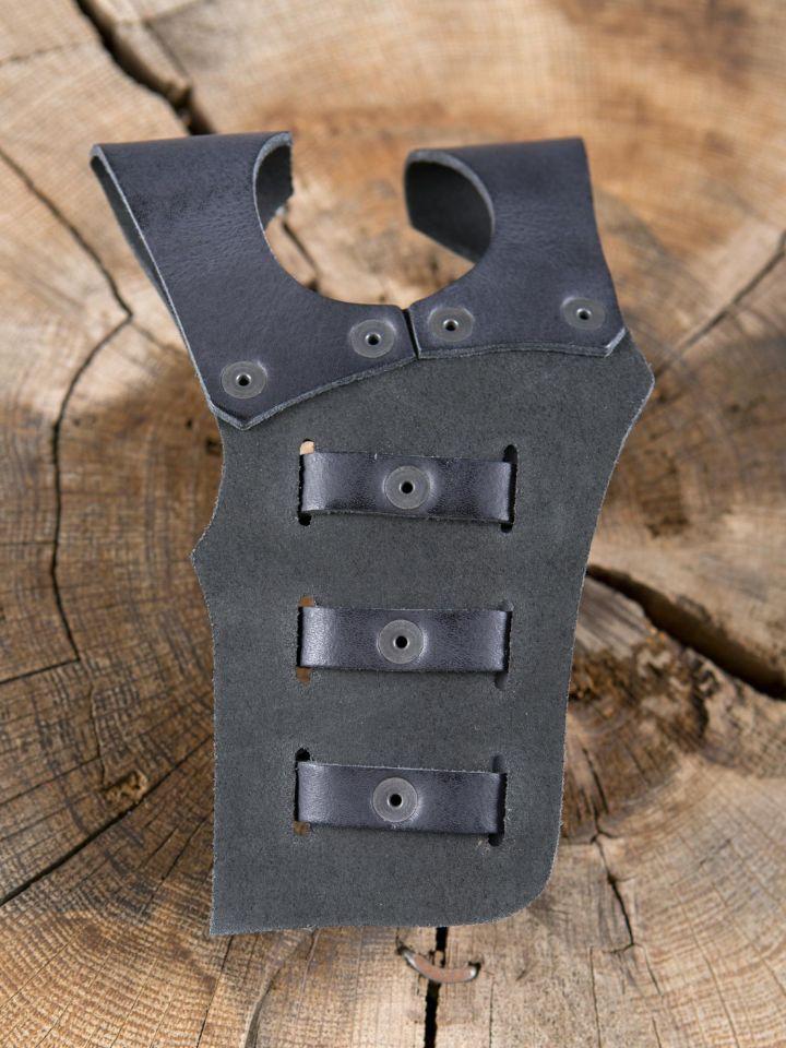Schwerthalter mit 3 Schnallen schwarz 3