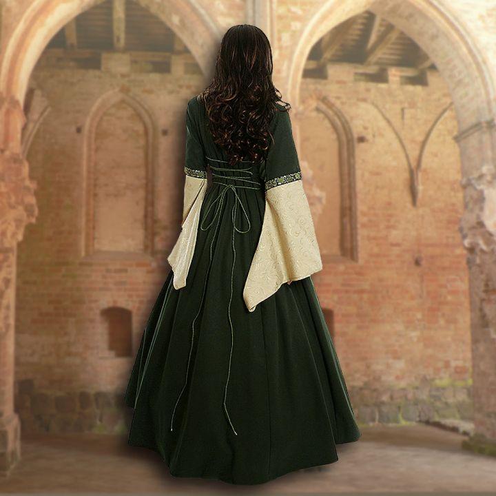 Kleid Iris grün-schilf 3