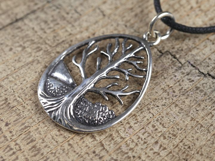 Silberanhänger keltischer Lebensbaum 3