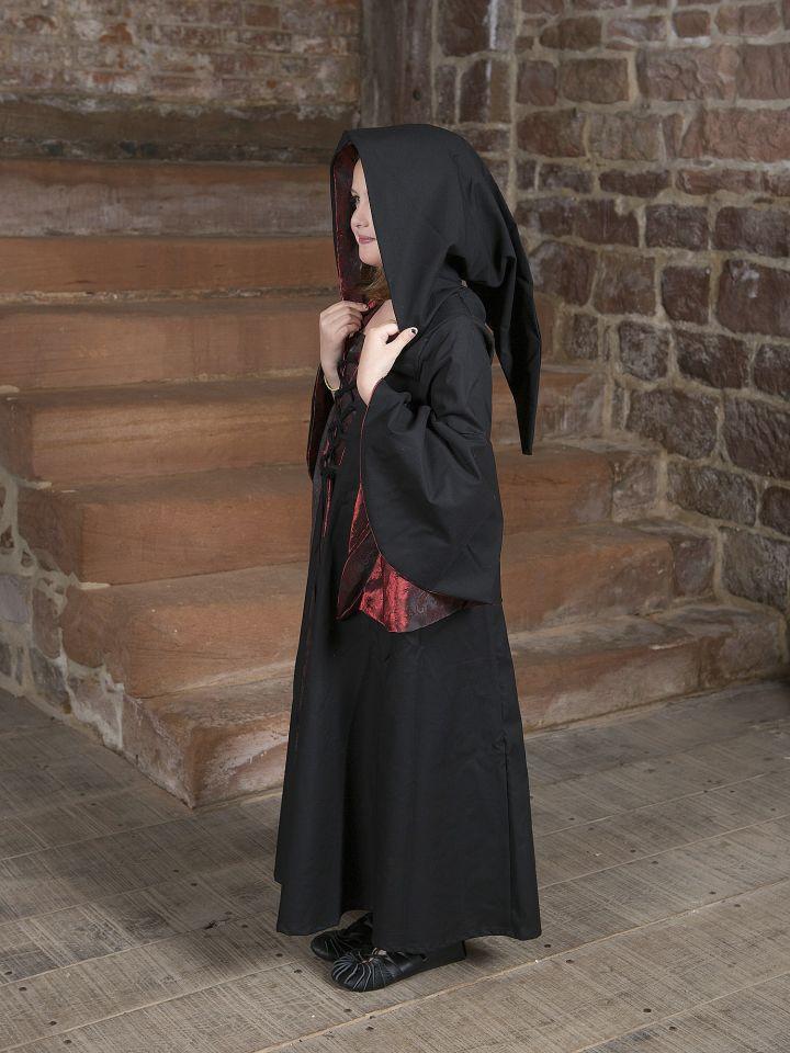 Kinderkleid Gretlin schwarz-rot 3