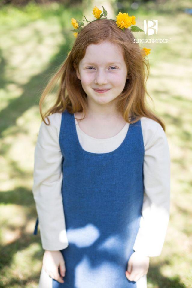 Kinderüberkleid Ylva meerblau 3