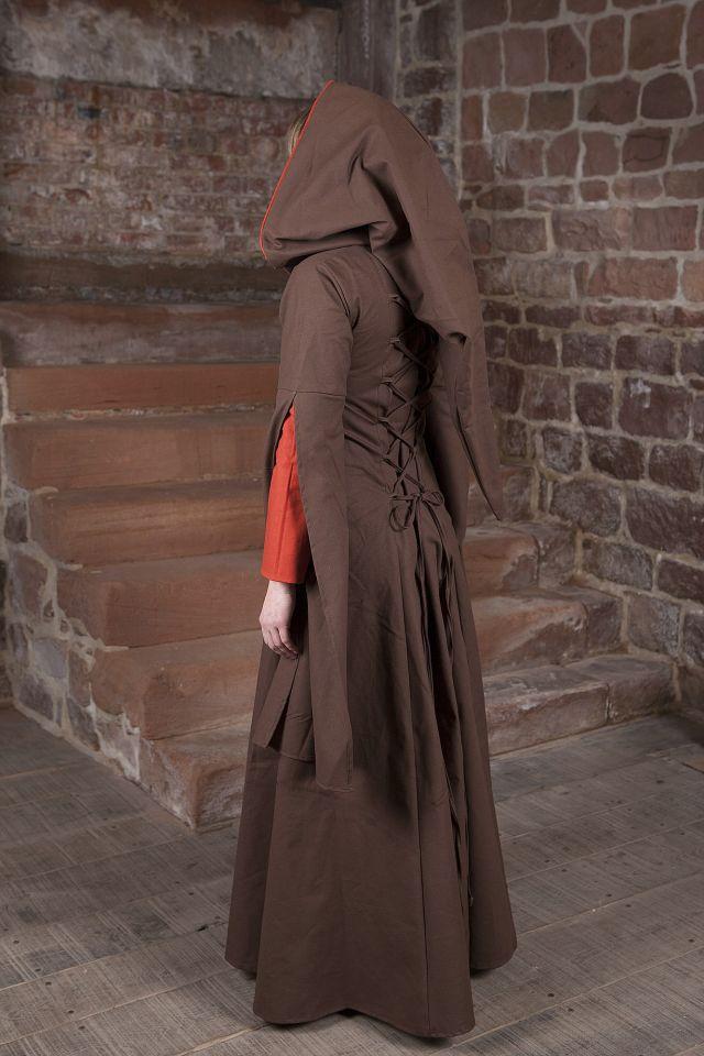Mittelalterkleid Ketlin in braun-rot 3