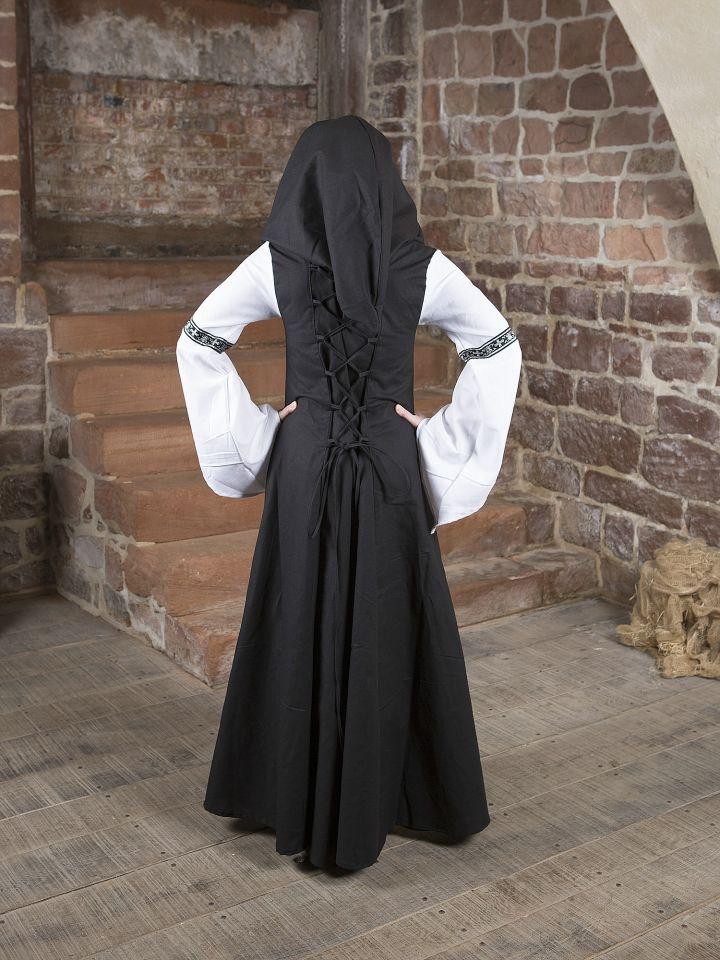 Mittelalterkleid Irmel in schwarz-weiß 3