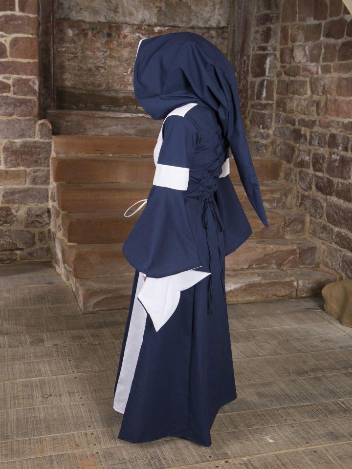 Baumwollkleid Minna blau-weiß 3