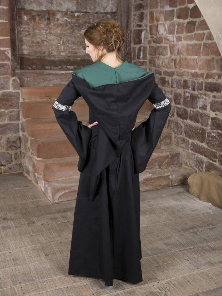 Mittelalterkleid Helena schwarz-grün 3