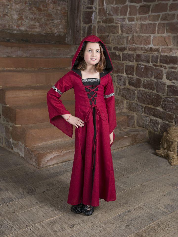 Kinderkleid Helena schwarz-rot 3