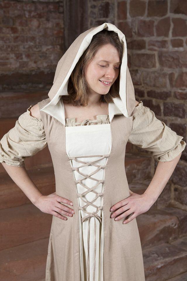 Mittelalterkleid Loris creme-weiß 3
