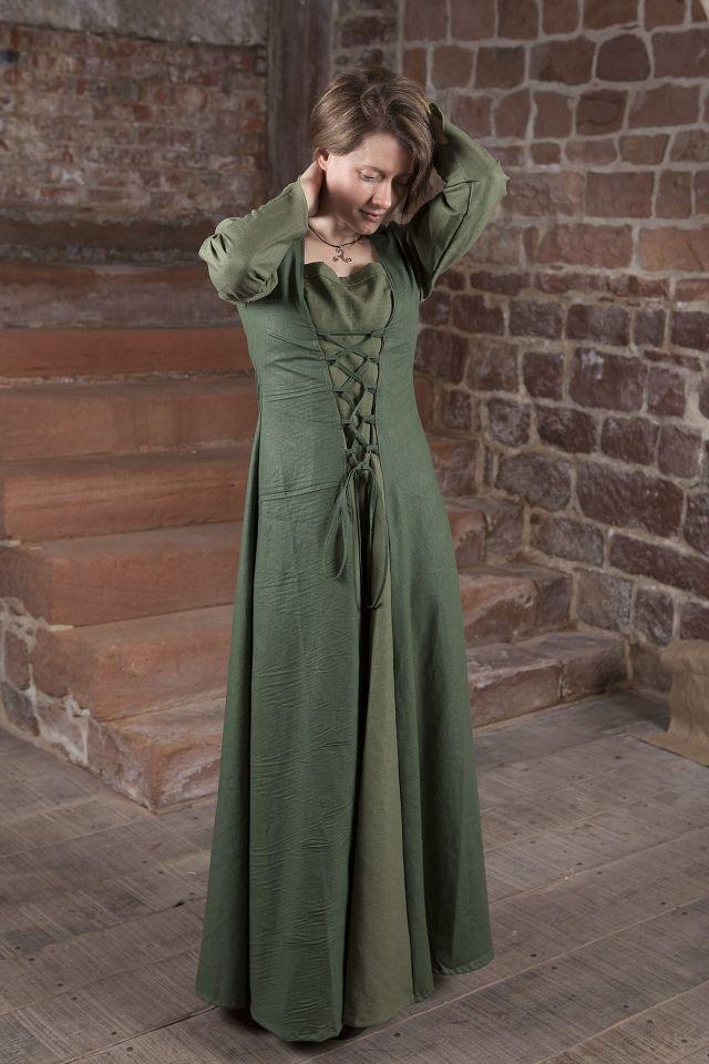 Mittelalterkleid Larea in grün 3