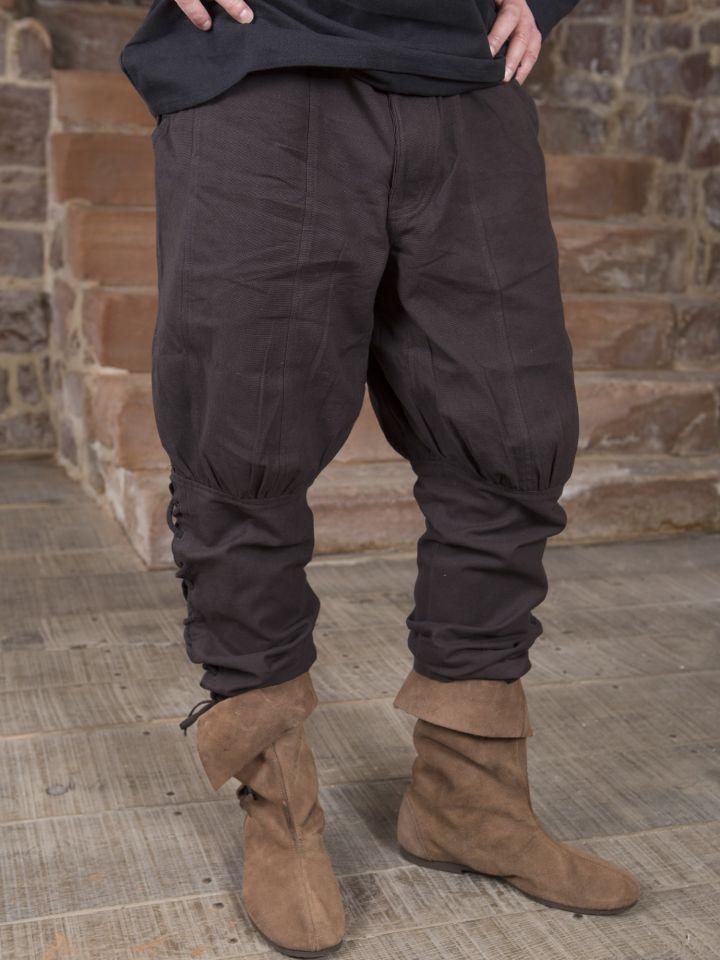Hose mit Beinschnürung braun 3