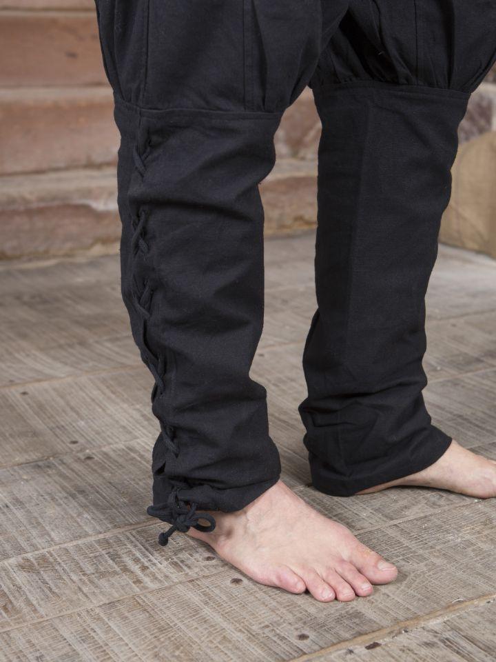Hose mit Beinschnürung schwarz 3