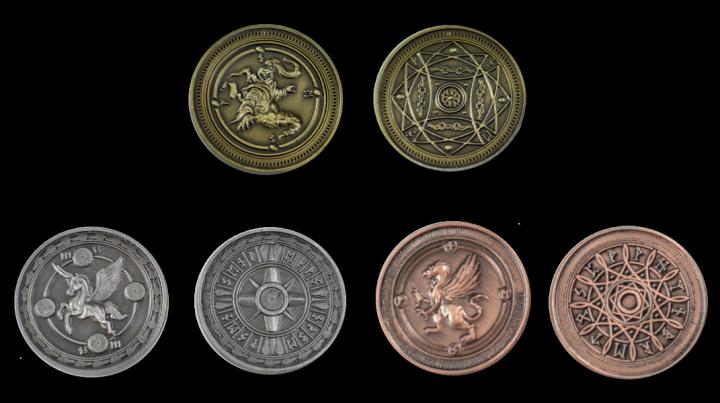 LARP-Münzen Luft ohne Lederbeutel 3