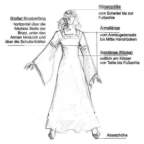 Zweiteiliges Gewand Kriemhild schwarz 3