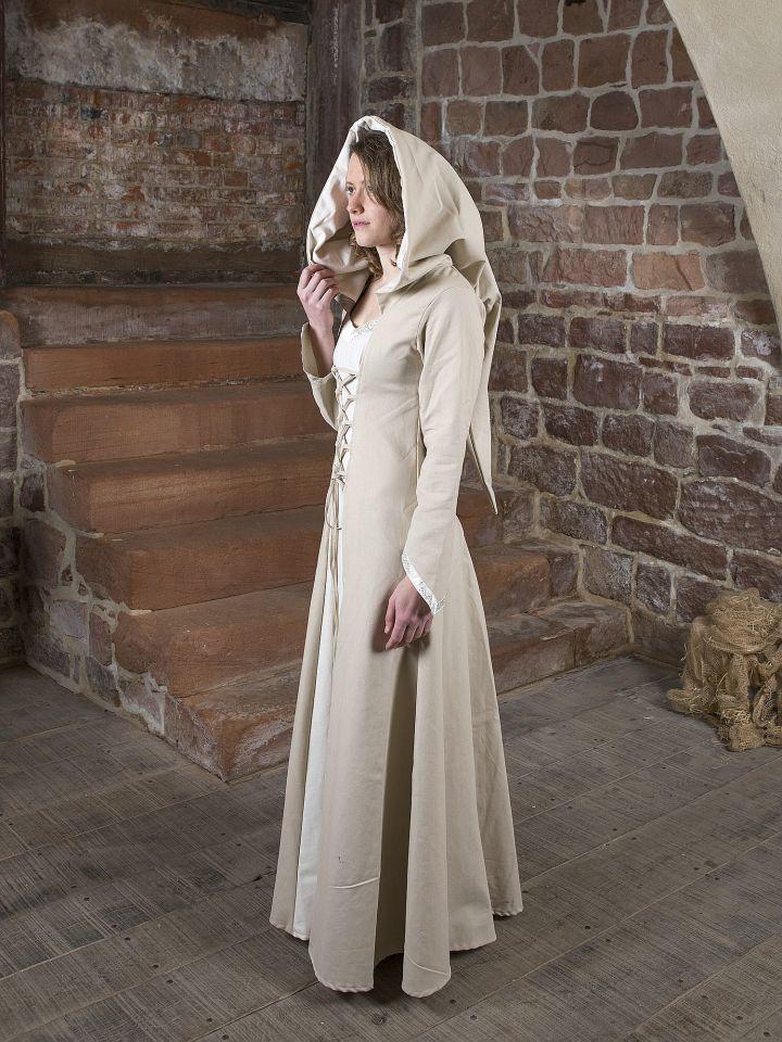 Mittelalterkleid Floriel creme-weiß 3