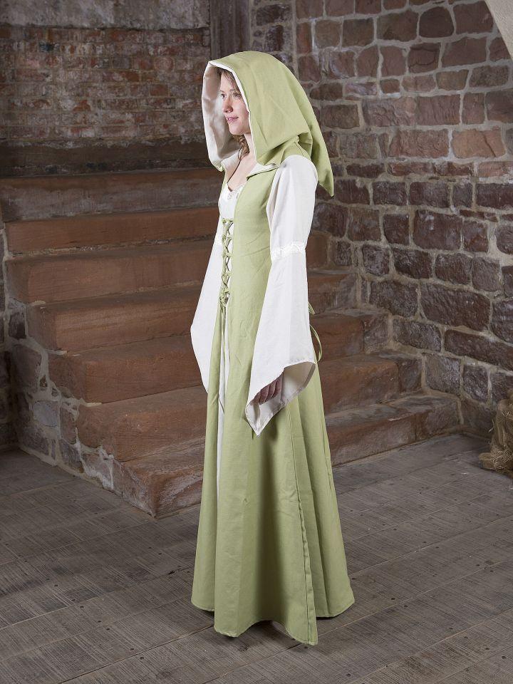 Mittelalterkleid Irmel grün-weiß 3