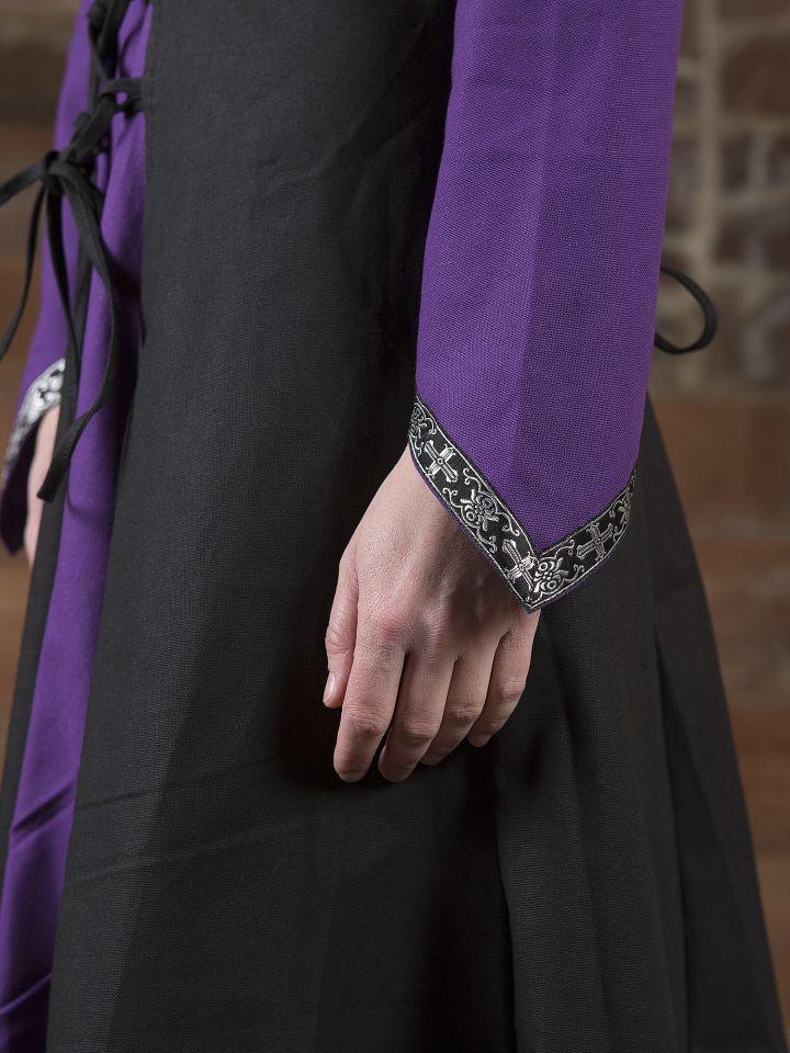Mittelalterkleid Jacqueline schwarz - lila 3