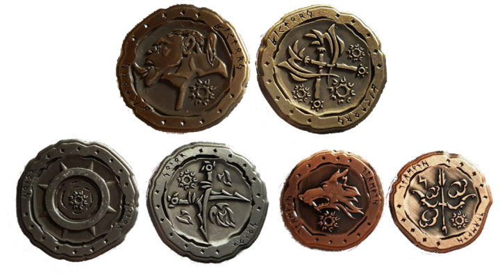 LARP-Münzen Ork 3