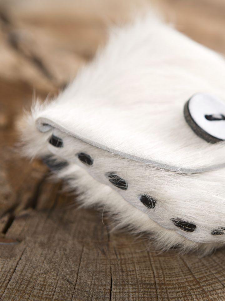 Gürteltasche aus Kuhfell weiß 3