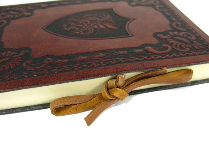 """Schreibbuch """"ScuDrago"""" im Ledereinband Mittel 12 x 17 cm 3"""