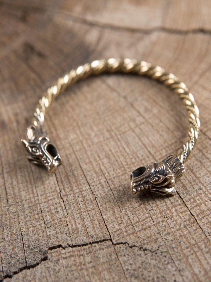 Bronzearmreif mit Drachenköpfen 3