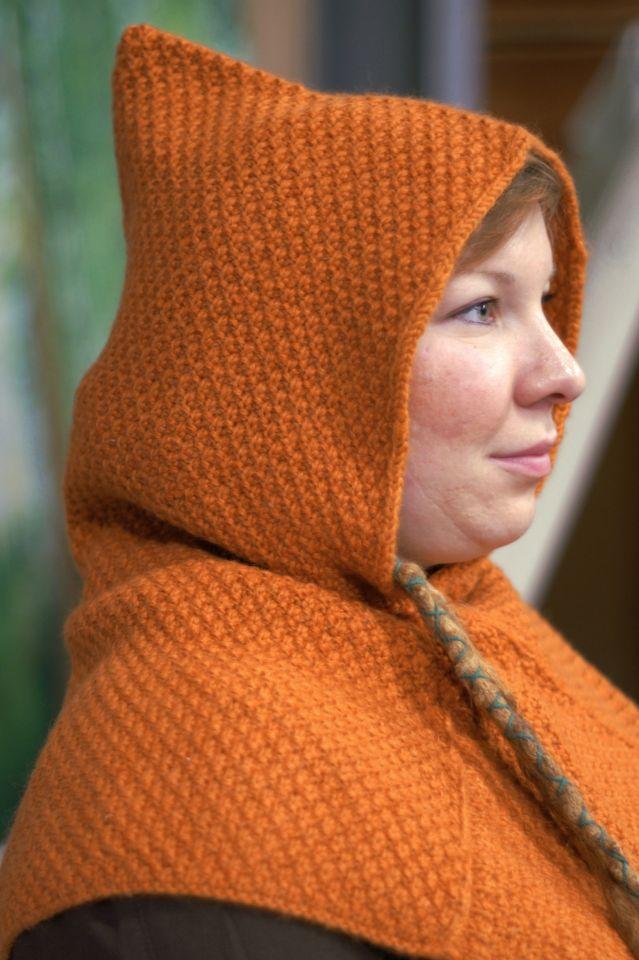 Woll-Strick Gugel Asbjorn orange 3