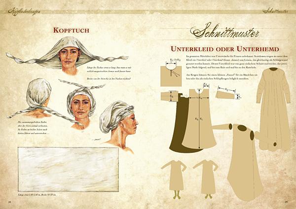 Kleidung des Mittelalters selbst anfertigen - Grundausstattung für die Frau 3