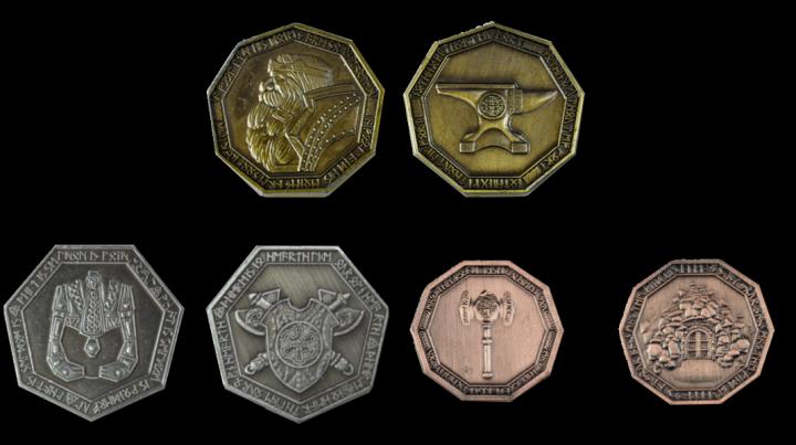 LARP-Münzen Zwerge 3