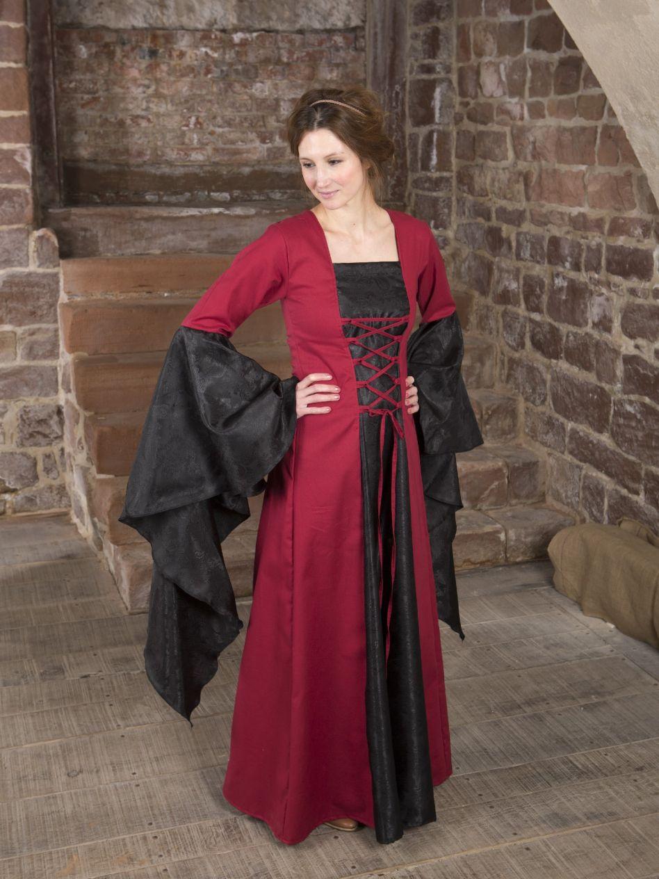 Mittelalterkleid schwarz rot