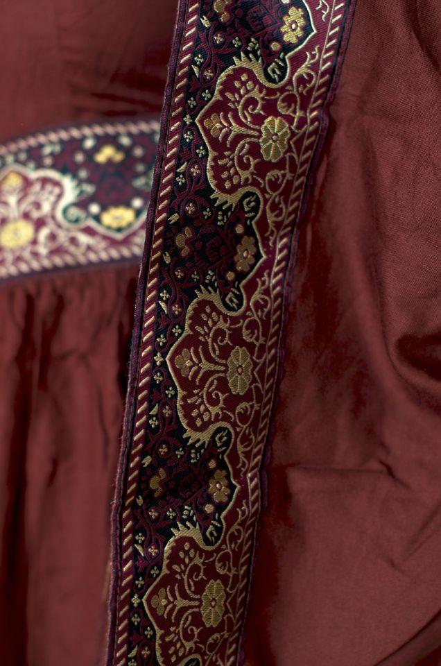 Mittelalterkleid Burgund in rot S 4