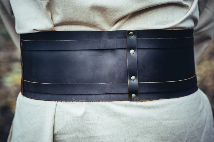 Wikingergürtel aus Leder braun 4