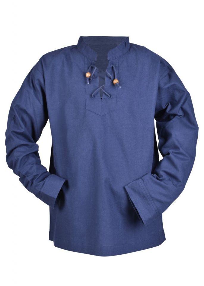 Kinder Mittelalterhemd blau 110 4
