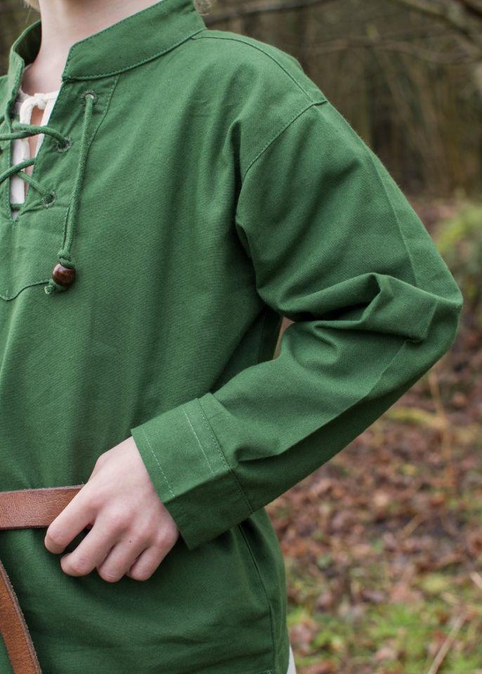 Kinder Mittelalterhemd grün 4