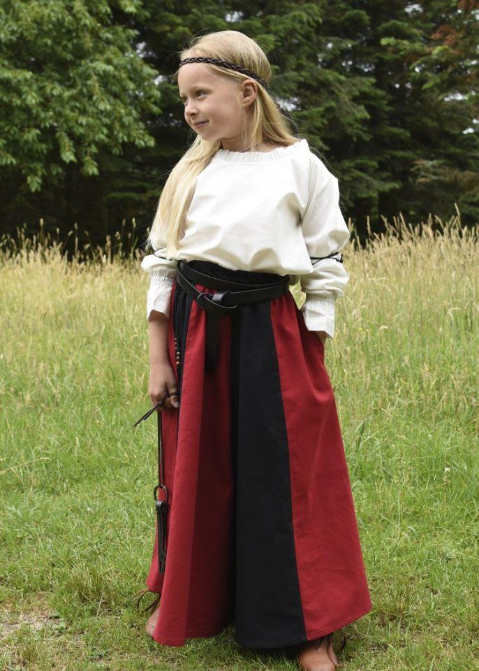 Mädchenrock für Mittelalter rot-schwarz 4