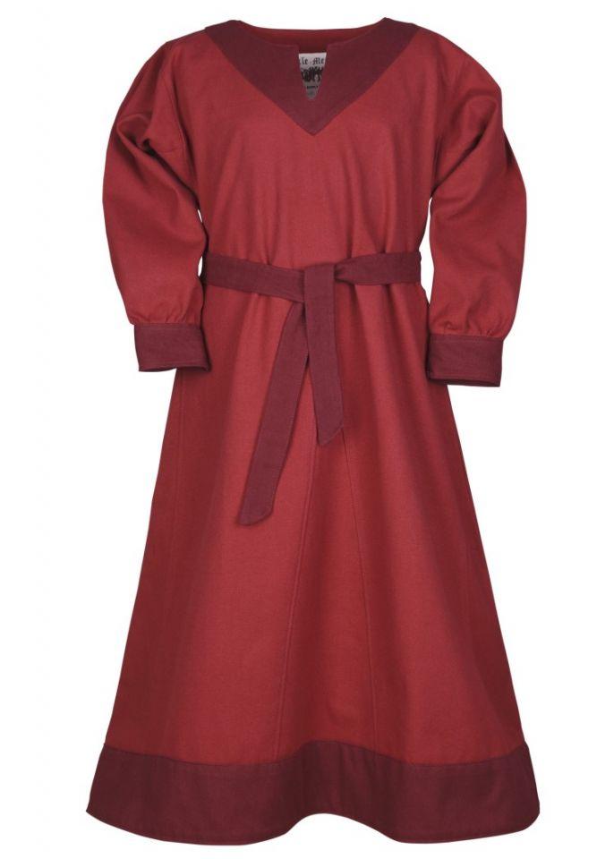 Wikingerkleid für Kinder rot/weinrot 4