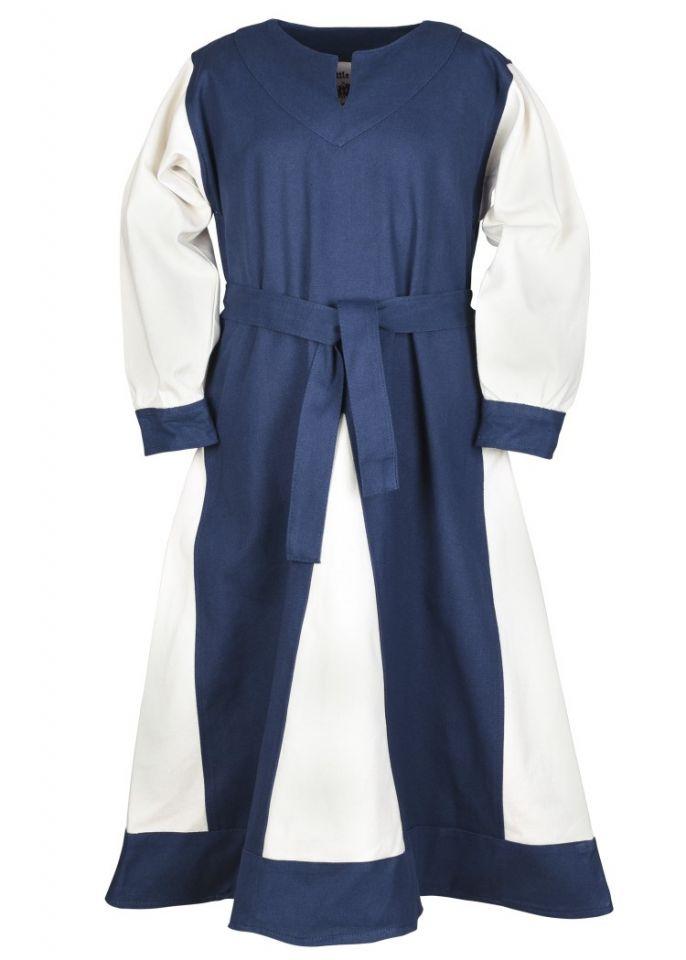Wikingerkleid für Kinder blau/natur 4