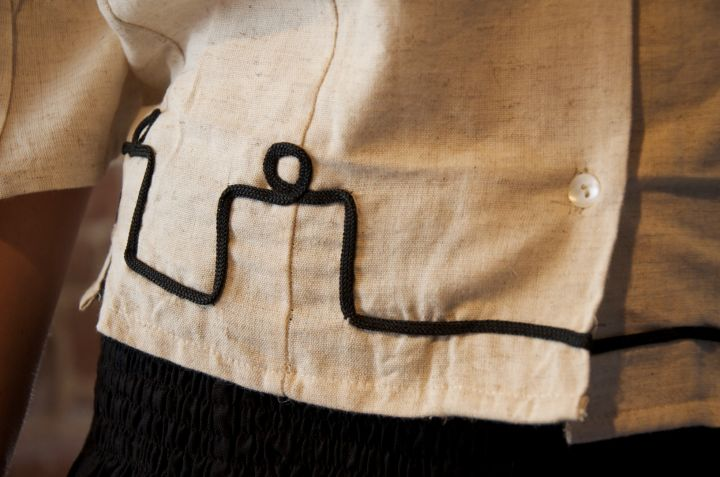 Bluse mit Stickerei, natur 4