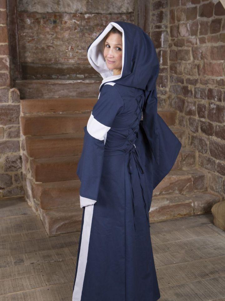 Baumwollkleid Minna blau-weiß 50 4