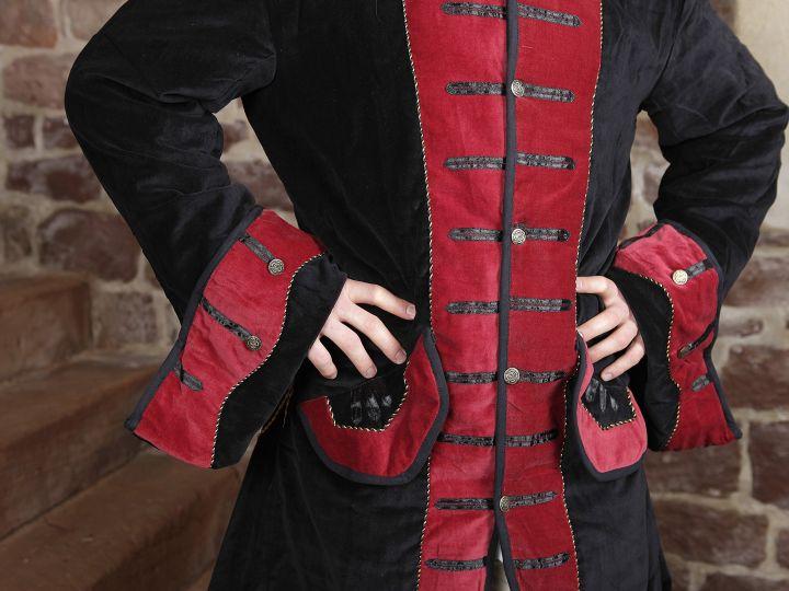Prunkjacke Gehrock in schwarz-rot 4